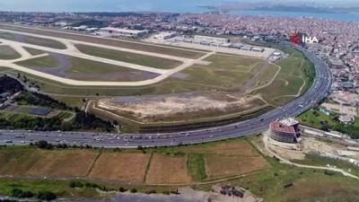 Atatürk Havalimanı taşındı, bölgede trafik azaldı...E-5 ve Basın Ekspres yolu havadan görüntülendi