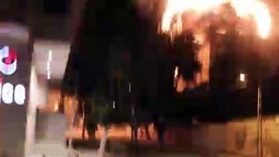 AA ofisinin de bulunduğu binanın vurulma anları - GAZZE