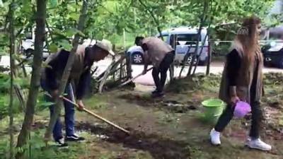 solucan gubresi - Fındıkta iyi tarım uygulamaları öğrenci ve çiftçilere öğretiliyor - GİRESUN