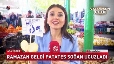 Ramazan geldi patates soğan ucuzladı