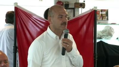 """deniz tasimaciligi -  İçişleri Bakanı Soylu'dan Kaftancıoğlu'na yanıt: """"Ben domuz yiyerek büyümedim"""""""