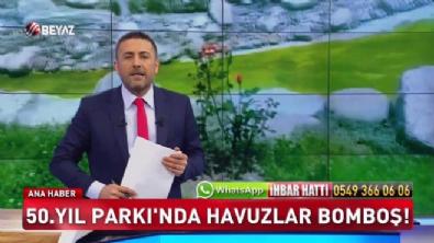 Ankara'da havuzlar kurbağa yuvası oldu!