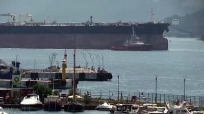 Tersane bakımına götürülen tanker Çanakkale Boğazı'ndan geçirildi - ÇANAKKALE