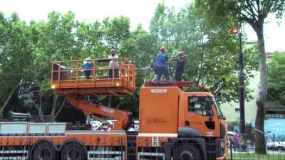 teknik ariza -  Tramvay arıza yaptı, seferler durdu
