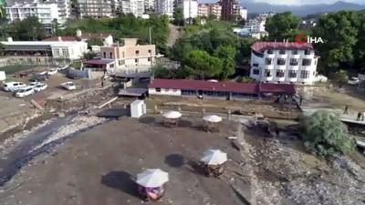 korku filmi -  Akçakoca'da yaşanan sel sonrası meydana gelen hasar havadan görüntülendi