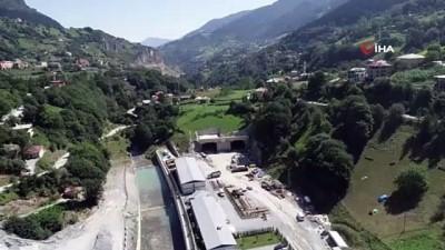 karayolu tuneli -  Zigana Tüneli'nde yüzde 63 seviyesine ulaşıldı...Son durum havadan görüntülendi