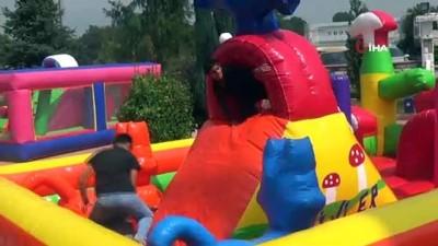 cocuk senligi -  Çocuklar, yaz Kur'an Kursu şenliğinde eğlendi