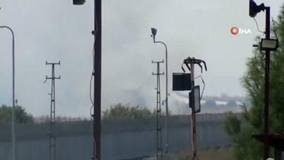 - Teröristler Sınır Boyunu Ateşe Verdi - Sınır Boydan Boya Duman Altında
