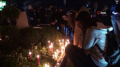 iranlilar -  Uçak kazasında hayatını kaybedenler için mum yaktılar