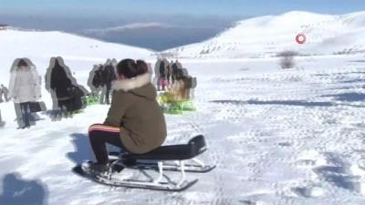 karne hediyesi -  Elazığ'da kayak merkezi tatilcilerle doldu