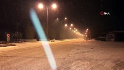 kar kureme araci -  Iğdır-Doğubayazıt karayolunda yoğun kar yağışı