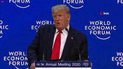 """- Trump: """"Zaman kötümser değil iyimser olma zamanıdır"""" - ABD Başkanı Donald Trump, WEF 50. yıl açılış konuşmasını yaptı"""