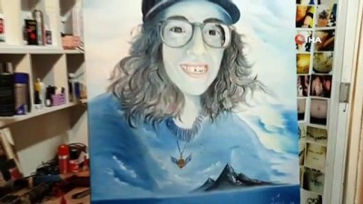 Ölümüyle Türkiye'yi yasa boğan Sibel Ünli'nin portresini yaptı