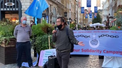 Çin, Ulusal Günü'nde protesto edildi - LONDRA