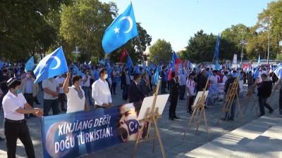 soykirim - İstanbul'da Doğu Türkistanlılardan Çin işgaline tepki - İSTANBUL