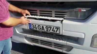 emniyet kemeri -  Kemerburgaz - Arnavutköy yolu üzerinde hafriyat kamyonlarına denetim