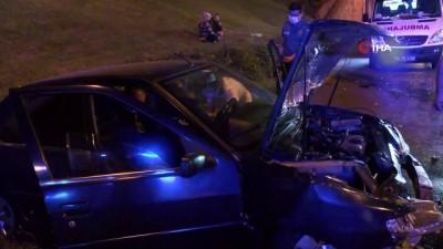 TEM Otoyolu'nda direksiyon hakimiyetini kaybeden kadın sürücü kaza yaptı: 2 yaralı