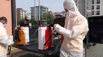 maske dagitimi -  Atakum Belediyesi'nden ilk ders öncesinde 24 okula dezenfeksiyon