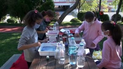 Bahçelievler'de okulu özleyen çocuklar için anlamlı etkinlik