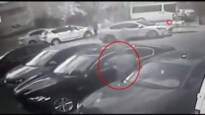 Lüks araçlardan direksiyon ve sunroof çalan şahıslar yakalandı...Hırsızlık anları kamerada