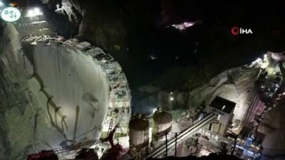 120 saniyede Yusufeli Barajı inşaatı görüntülendi