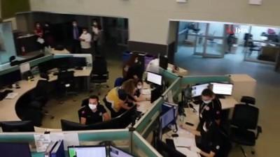 - Acil çağrı merkezi ekipleri tatbikatlarla afetlere hazırlanıyor