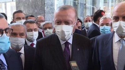 """Cumhurbaşkanı Erdoğan: """"Çok talihsiz bir açıklama, bu talihsiz açıklamayı keşke yapmamış olsaydı. Kaldı ki, bir üyenin üzerine böyle bir şey düşmezdi"""""""