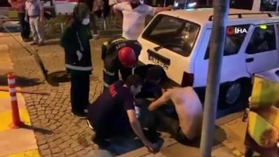 Rize'de rögardan çıkan şahsı kovaladıkları iddia edilen 3 kişi arkadaşı çıktı