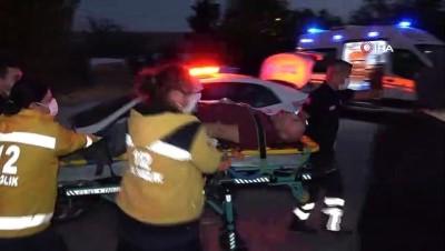 Hafif ticari araç demir korkuluğa saplandı: 1 ölü, 2 ağır yaralı