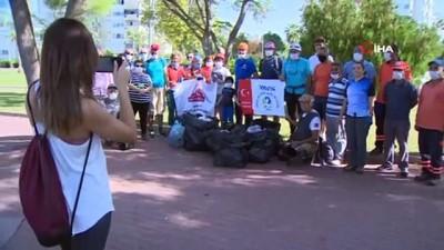 kayali -  35 metrelik falezlerdeki çöpleri, gönüllü dağcılar topladı