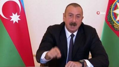 - Azerbaycan Cumhurbaşkanı Aliyev: 'Ermenistan yönetimini kalan toprakları kendi isteğiyle terk etmesi konusunda uyarıyorum' - 'Topraklarımızı geri alacağız, herkese bunu bilsin'