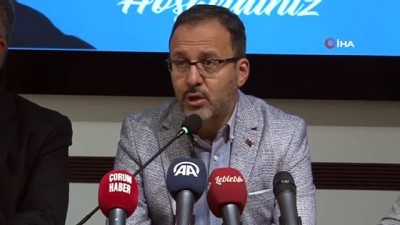 Gençlik ve Spor Bakanı Mehmet Muharrem Kasapoğlu Çorum'da