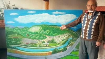 Emekli mobilyacı ressamlara taş çıkartıyor