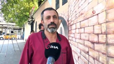 Gaziantep'in tarihi duvarlara yansıtılıyor
