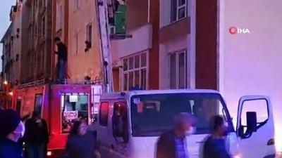 4 katlı binada yangın çıktı, imdatlarına Aras EDAŞ yetişti