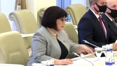 """- TBMM Başkanı Mustafa Şentop, Azerbaycan Milli Meclis Başkanı Sahiba Gafarova ile görüştü - Şentop,""""Azerbaycan'ın yanındayız"""""""