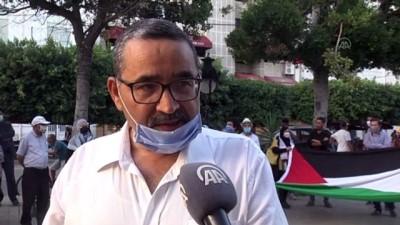 İsrail'in Tunus'taki Filistin Merkezi'ne düzenlediği saldırının 35'inci yıldönümünde gösteriler düzenlendi
