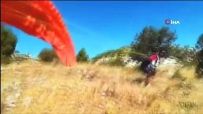 kayali -  Karaman'da kayalıklara çarpan yamaç paraşütçüsü yaralandı