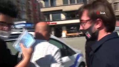 Taksim'de hareketli anlar: Gözaltına alınan çarşaflı şüpheli şahıs erkek çıktı
