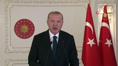 Cumhurbaşkanı Erdoğan'dan, İslam İşbirliği Toplantısı açılışına video mesaj gönderdi