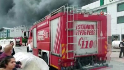 fabrika -  Silivri'de sünger fabrikası alevlere teslim oldu