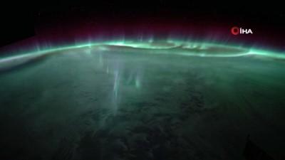 uzay istasyonu -  Kutup ışıkları uzaydan görüntülendi