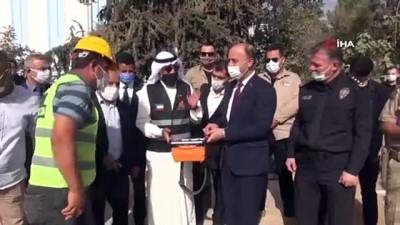 Kuveytli hayırseverlerin yapacağı okulun temeli atıldı