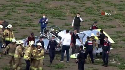 ambulans helikopter -  Büyükçekmece'de eğitim uçağı düştü