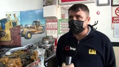Kafası kopan oksijen tüpleri dükkanlara fırladı...O anlar kamerada