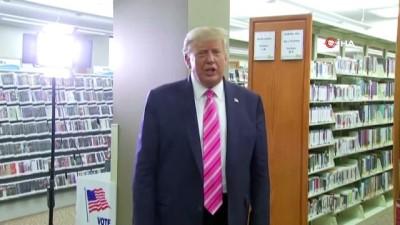 """- ABD Başkanı Trump oyunu kullandı - ABD Başkanı Donald Trump: - 'Trump adında bir adama oy verdim"""""""