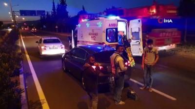 Yoldaki karton kutu kazaya neden oldu: 1 yaralı