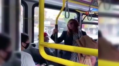 - Yüzüne tüküren kadını iterek otobüsten attı