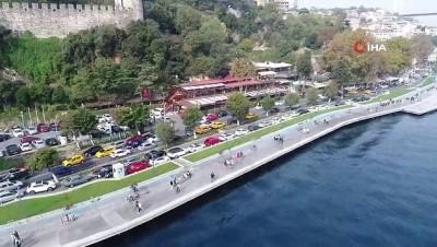 İstanbul sahillerinde maskesiz ve sosyal mesafesiz yoğunluk