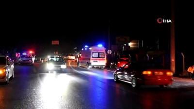 Yola dökülen sıvı madde kazaya sebep oldu: 2 yaralı